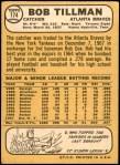1968 Topps #174  Bob Tillman  Back Thumbnail