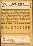 1968 Topps #387  Joe Foy  Back Thumbnail