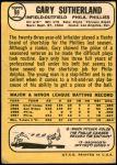 1968 Topps Milton Bradley #98 MB Gary Sutherland  Back Thumbnail