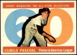 1960 Topps #569   -  Camilo Pascual All-Star Front Thumbnail