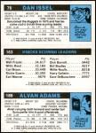 1980 Topps   -  Alvan Adams / Bill Cartwright / Dan Issel 189 / 163 / 76 Back Thumbnail