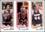 1980 Topps   -  Alvan Adams / Bill Cartwright / Dan Issel 189 / 163 / 76 Front Thumbnail