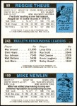 1980 Topps   -  Mike Newlin / Wes Unseld / Reggie Theus 159 / 243 / 50 Back Thumbnail