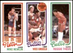 1980 Topps   -  Mike Newlin / Wes Unseld / Reggie Theus 159 / 243 / 50 Front Thumbnail