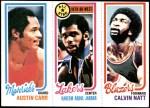1980 Topps   -  Austin Carr / Kareem Abdul-Jabbar / Calvin Natt 61 / 8 / 200 Front Thumbnail
