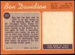 1970 Topps #251  Ben Davidson  Back Thumbnail