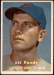 1957 Topps #42  Dee Fondy  Front Thumbnail