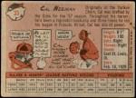 1958 Topps #33 WT Cal Neeman  Back Thumbnail