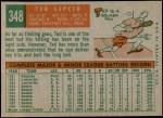 1959 Topps #348  Ted Lepcio  Back Thumbnail
