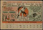 1956 Topps #157 GRY Dick Brodowski  Back Thumbnail