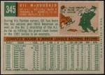 1959 Topps #345  Gil McDougald  Back Thumbnail