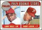 1969 Topps #206   -  Larry Hisle / Barry Lersch Phillies Rookies Front Thumbnail
