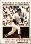 1978 Topps #7   -  Reggie Jackson Record Breaker Front Thumbnail
