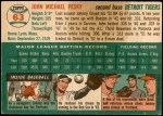 1954 Topps #63  Johnny Pesky  Back Thumbnail