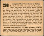 1938 Horrors of War #208   Insurgents Plant Their Banner at the Sea Back Thumbnail