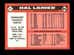 1986 Topps Traded #60 T Hal Lanier  Back Thumbnail