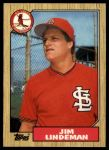 1987 Topps Traded #65 T Jim Lindeman  Front Thumbnail