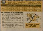 1960 Topps #530  Mike McCormick  Back Thumbnail