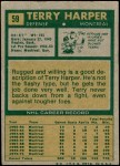 1971 Topps #59  Terry Harper  Back Thumbnail