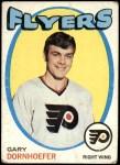 1971 Topps #89  Gary Dornhoefer  Front Thumbnail
