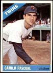 1966 Topps #305  Camilo Pascual  Front Thumbnail