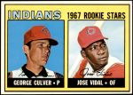 1967 Topps #499   -  George Culver / Jose Vidal Indians Rookies Front Thumbnail