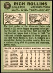 1967 Topps #98  Rich Rollins  Back Thumbnail