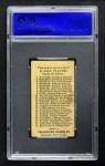 1909 E95 Philadelphia Caramel  Eddie Cicotte  Back Thumbnail
