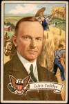 1956 Topps U.S. Presidents #32  Calvin Coolidge  Front Thumbnail