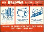 1958 Topps   Contest Card - July 8 - All-Star Game Front Thumbnail