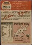 1953 Topps #238  Cal Hogue  Back Thumbnail