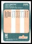 1988 Fleer #117  Jeff Malone  Back Thumbnail