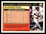 1997 Topps #24  Garret Anderson  Back Thumbnail