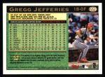 1997 Topps #229  Gregg Jefferies  Back Thumbnail