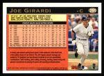 1997 Topps #291  Joe Girardi  Back Thumbnail