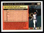 1997 Topps #403  Ruben Rivera  Back Thumbnail