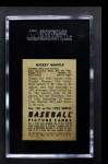 1952 Bowman #101  Mickey Mantle  Back Thumbnail