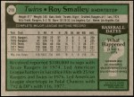 1979 Topps #219  Roy Smalley  Back Thumbnail