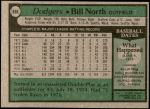 1979 Topps #668  Bill North  Back Thumbnail