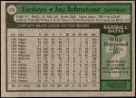 1979 Topps #558  Jay Johnstone  Back Thumbnail