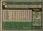 1979 Topps #506  John D'Acquisto  Back Thumbnail