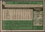 1979 Topps #458  Jim Essian  Back Thumbnail