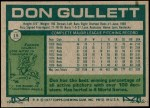 1977 Topps #15  Don Gullett  Back Thumbnail