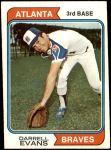 1974 Topps #140  Darrell Evans  Front Thumbnail