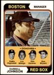 1974 Topps #403   -  Darrell Johnson / Don Bryant / Eddie Popowski / Lee Stange / Don Zimmer Red Sox Leaders  Front Thumbnail