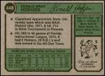 1974 Topps #448  Ron Hodges  Back Thumbnail