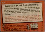 1959 Topps #53   -  Nick Mickoski / Johnny Hanna Perfect Three-Point Landing Back Thumbnail