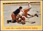 1959 Topps #53   -  Nick Mickoski / Johnny Hanna Perfect Three-Point Landing Front Thumbnail