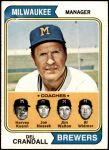 1974 Topps #99   -  Del Crandall / Harvey Kuenn / Joe Nossek / Jim Walton / Al Widmar Brewers Leaders Front Thumbnail