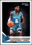 2019 Donruss #247   -  Jalen McDaniels Rated Rookie Front Thumbnail
